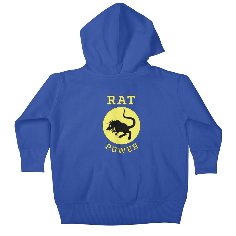 RAT POWER Kids Baby Zip-Up Hoody by CAT IN ORBIT Artist Shop