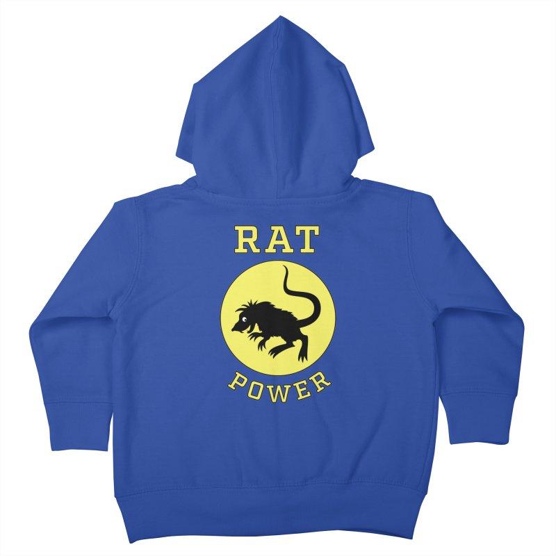 RAT POWER Kids Toddler Zip-Up Hoody by CAT IN ORBIT Artist Shop