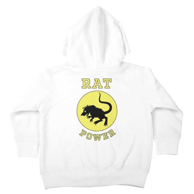 RAT POWER Kids Toddler Zip-Up Hoody by CAT IN ORBIT Artist Shop