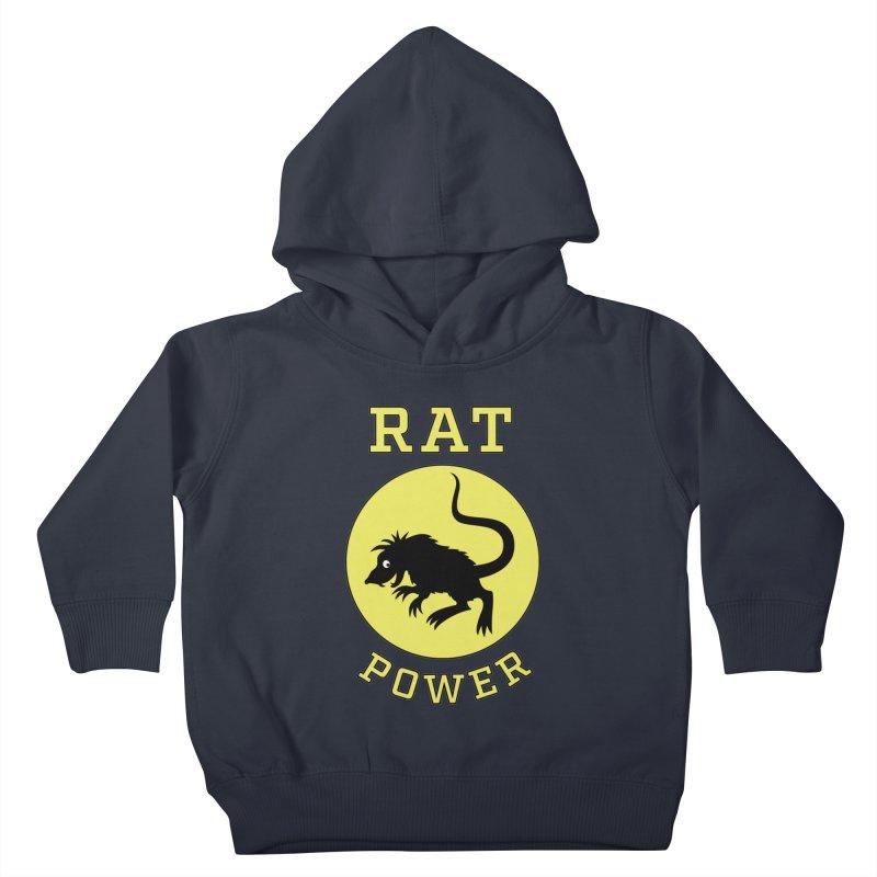 RAT POWER Kids Toddler Pullover Hoody by CAT IN ORBIT Artist Shop