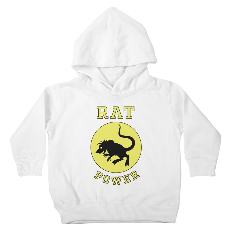 RAT POWER Kids Toddler Pullover Hoody by CAT IN ORBIT Artist Shop