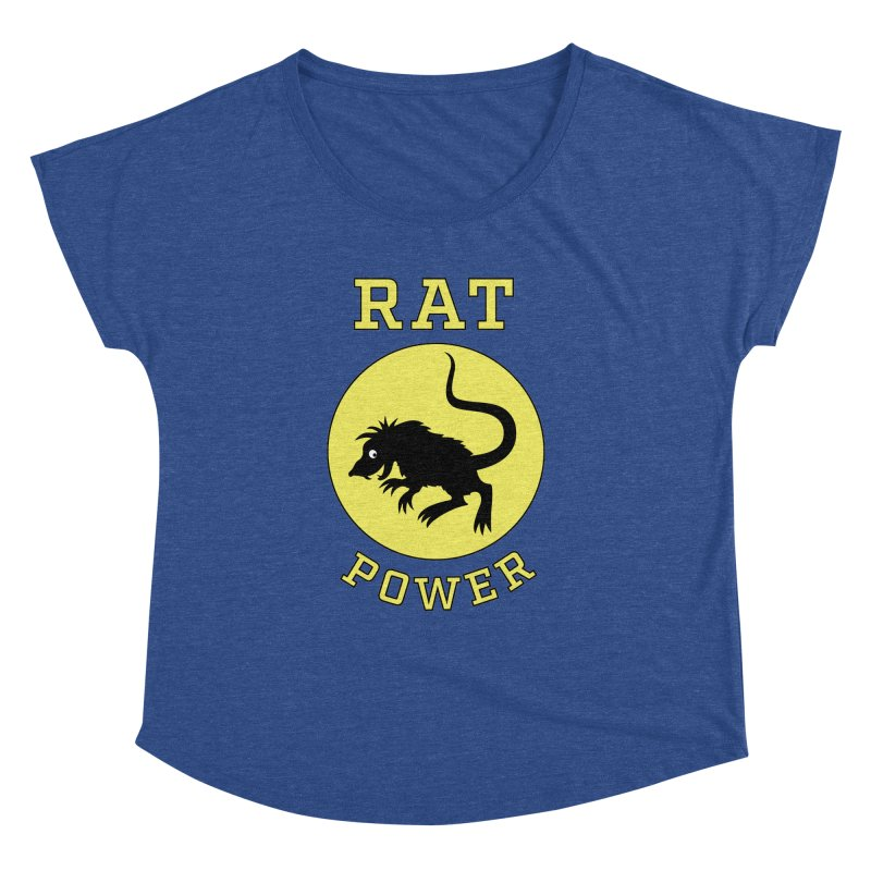 RAT POWER Women's Dolman by CAT IN ORBIT Artist Shop