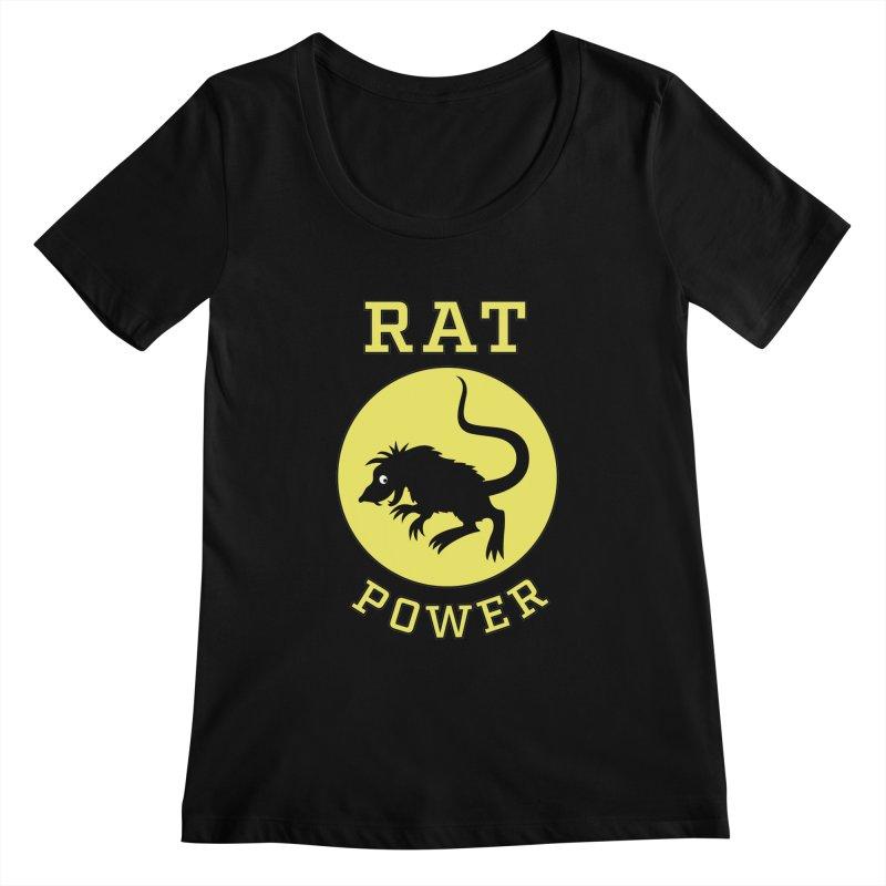 RAT POWER Women's Scoopneck by CAT IN ORBIT Artist Shop