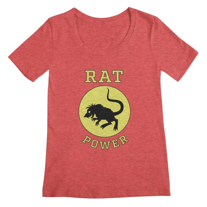 RAT POWER Women's Regular Scoop Neck by CAT IN ORBIT Artist Shop