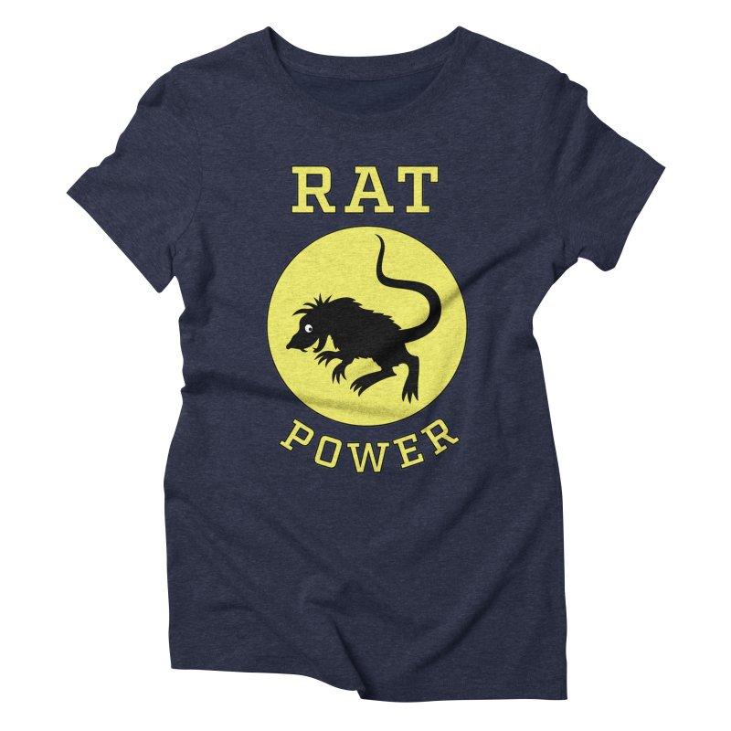 RAT POWER Women's Triblend T-Shirt by CAT IN ORBIT Artist Shop