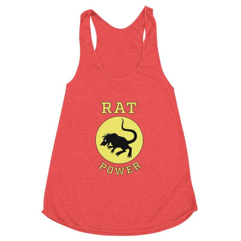 RAT POWER Women's Racerback Triblend Tank by CAT IN ORBIT Artist Shop