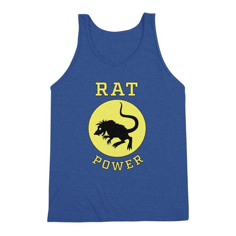 RAT POWER Men's Triblend Tank by CAT IN ORBIT Artist Shop
