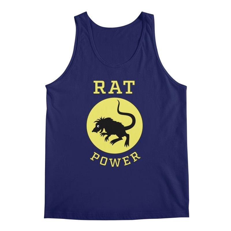 RAT POWER Men's Tank by CAT IN ORBIT Artist Shop