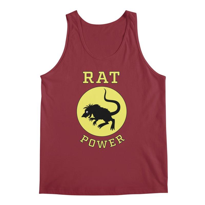 RAT POWER Men's Regular Tank by CAT IN ORBIT Artist Shop