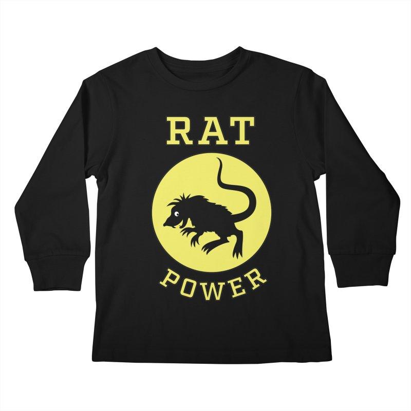 RAT POWER Kids Longsleeve T-Shirt by CAT IN ORBIT Artist Shop