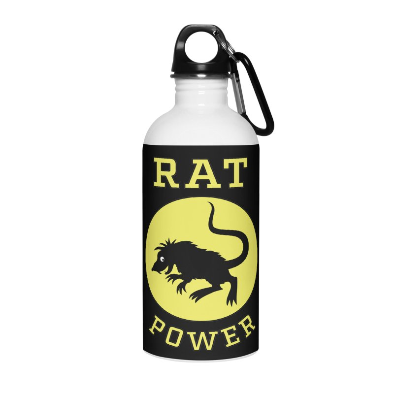 RAT POWER Accessories Water Bottle by CAT IN ORBIT Artist Shop