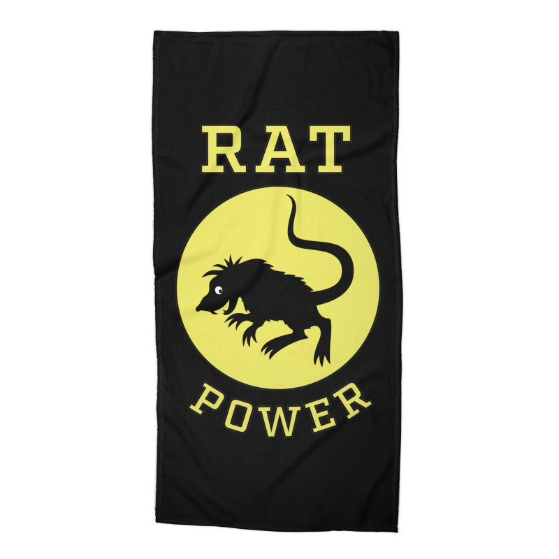 RAT POWER Accessories Beach Towel by CAT IN ORBIT Artist Shop