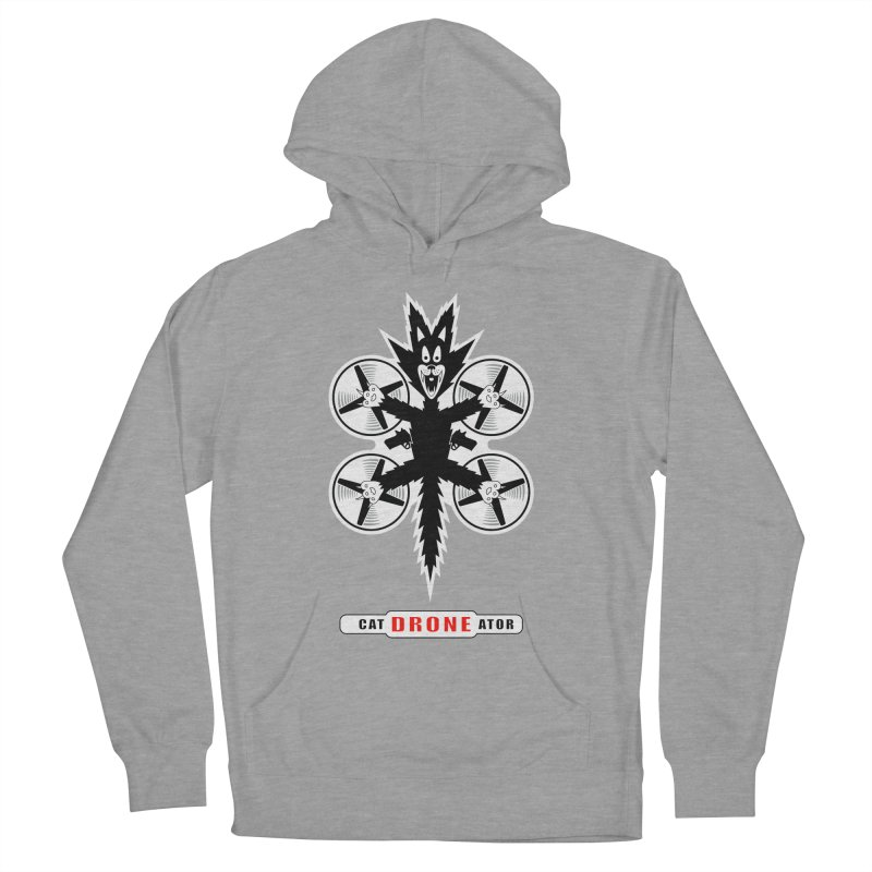 CAT-DRONE-ATOR Men's French Terry Pullover Hoody by CAT IN ORBIT Artist Shop
