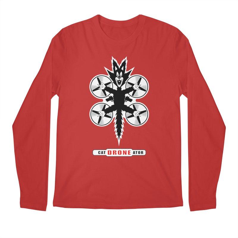CAT-DRONE-ATOR Men's Regular Longsleeve T-Shirt by CAT IN ORBIT Artist Shop