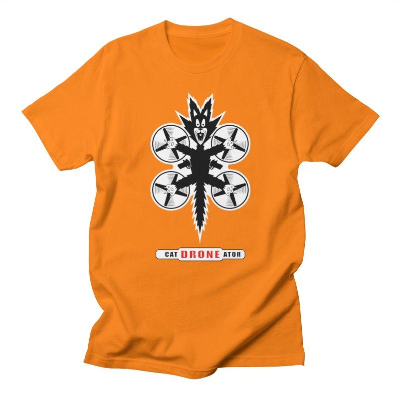 CAT-DRONE-ATOR Men's Regular T-Shirt by CAT IN ORBIT Artist Shop