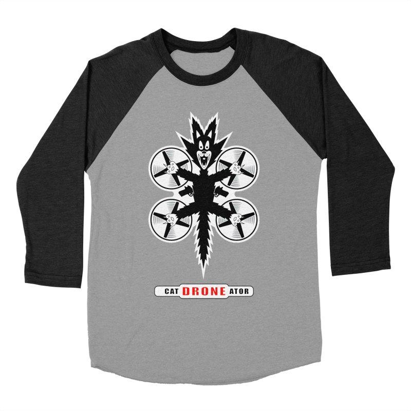 CAT-DRONE-ATOR Women's Baseball Triblend Longsleeve T-Shirt by CAT IN ORBIT Artist Shop