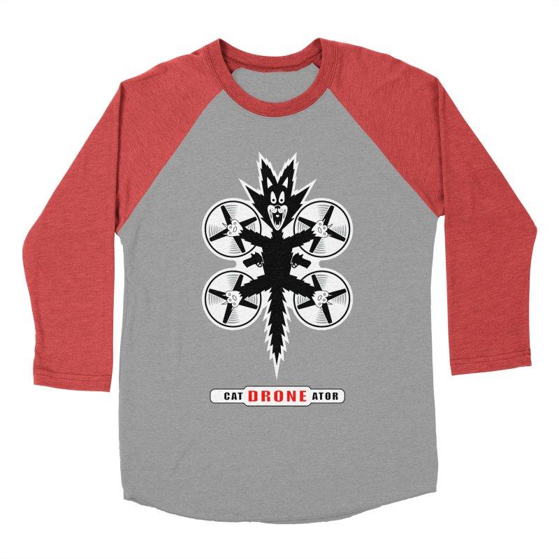 CAT-DRONE-ATOR Men's Baseball Triblend T-Shirt by CAT IN ORBIT Artist Shop