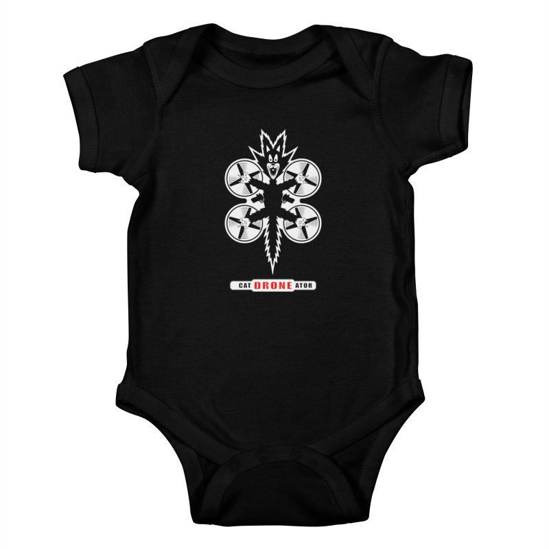 CAT-DRONE-ATOR Kids Baby Bodysuit by CAT IN ORBIT Artist Shop