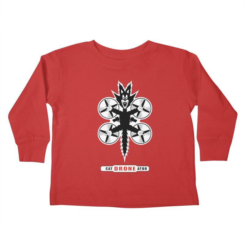 CAT-DRONE-ATOR Kids Toddler Longsleeve T-Shirt by CAT IN ORBIT Artist Shop