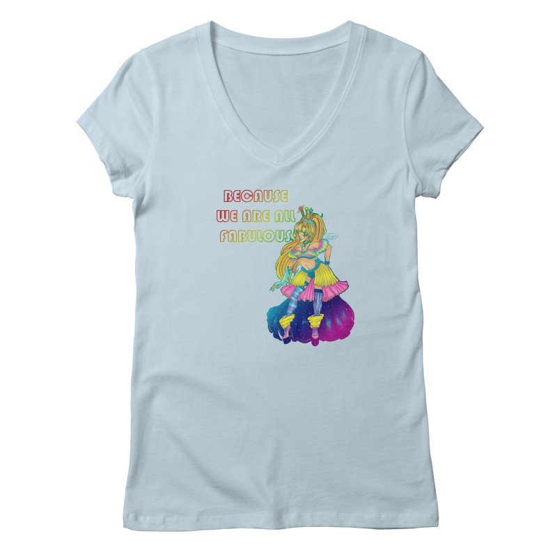 We Are Fabulous! Women's V-Neck by catiworks's Artist Shop