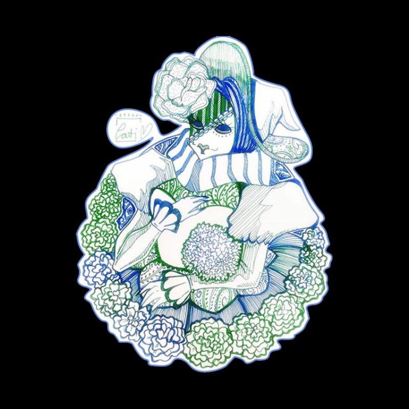 Mask Series. Feeling Blue Women's T-Shirt by catiworks's Artist Shop