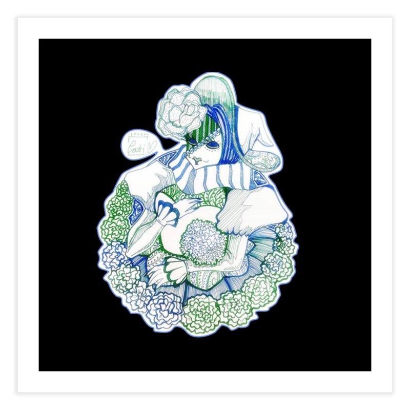 Mask Series. Feeling Blue Home Fine Art Print by catiworks's Artist Shop