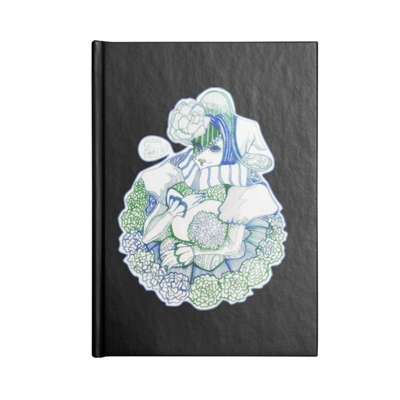 Mask Series. Feeling Blue Accessories Notebook by catiworks's Artist Shop