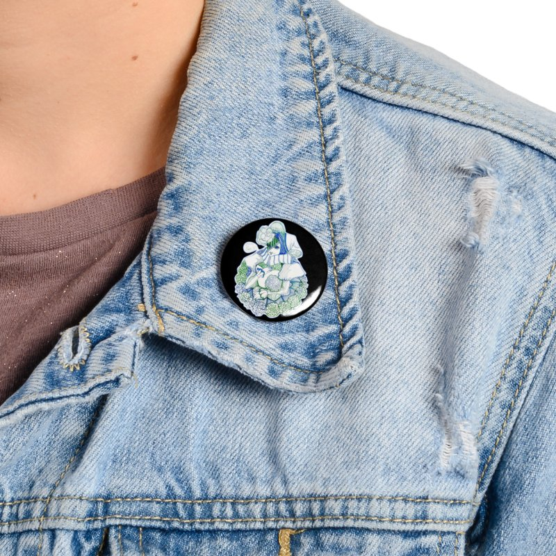 Mask Series. Feeling Blue Accessories Button by catiworks's Artist Shop