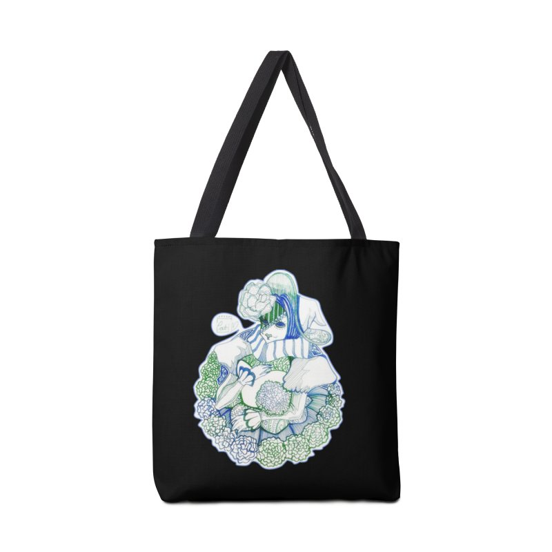 Mask Series. Feeling Blue Accessories Bag by catiworks's Artist Shop