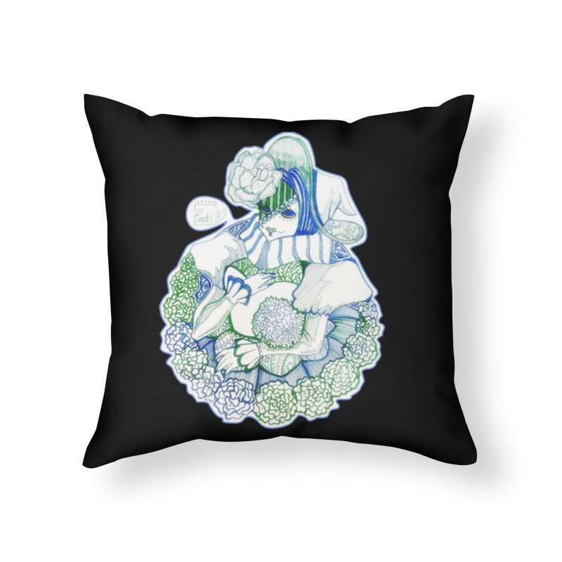 Mask Series. Feeling Blue Home Throw Pillow by catiworks's Artist Shop