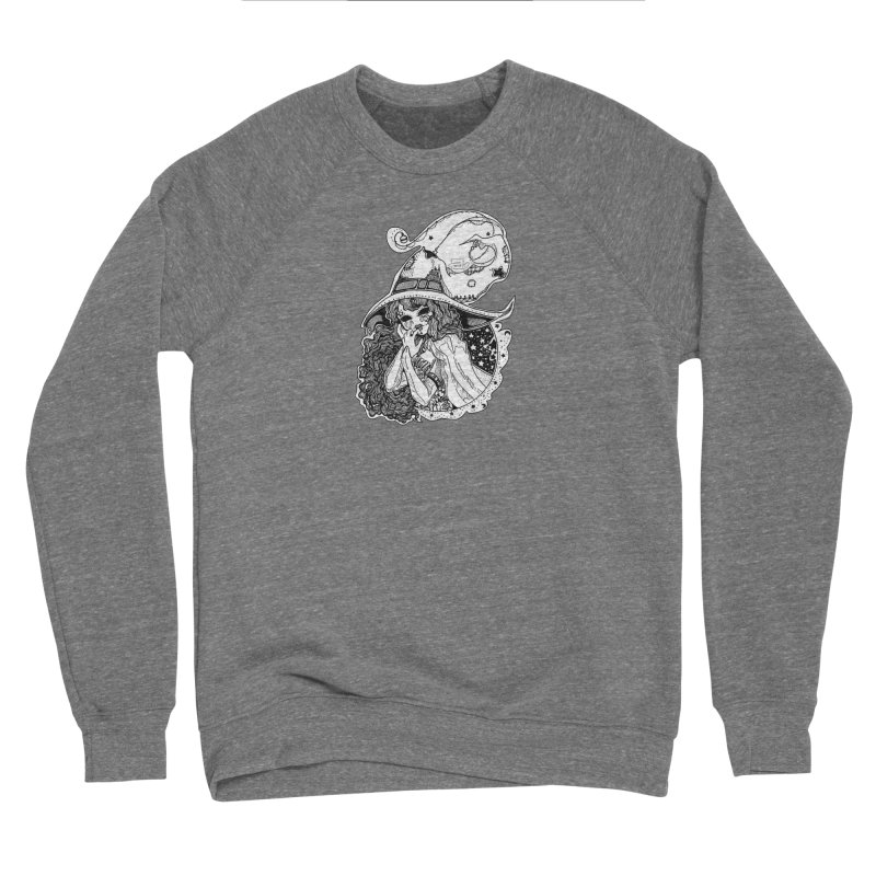 Masked Moon Witch (Black and White) Women's Sweatshirt by catiworks's Artist Shop