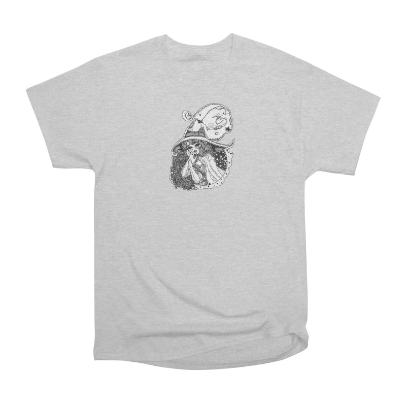 Masked Moon Witch (Black and White) Men's T-Shirt by catiworks's Artist Shop