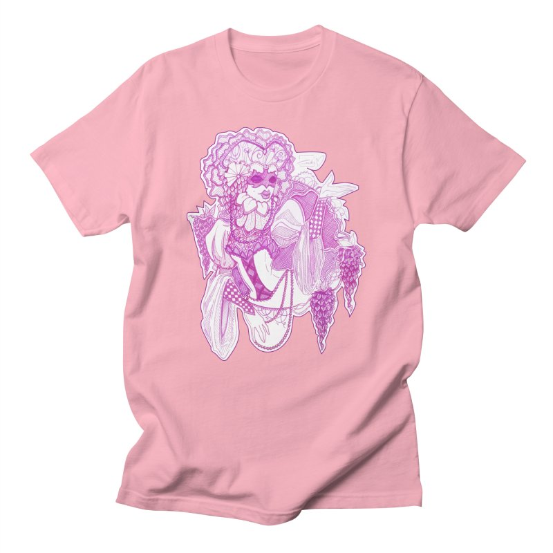 Violet Masked Blossom Women's T-Shirt by catiworks's Artist Shop