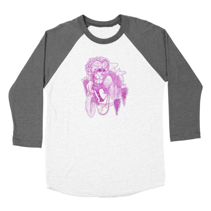 Violet Masked Blossom Women's Longsleeve T-Shirt by catiworks's Artist Shop