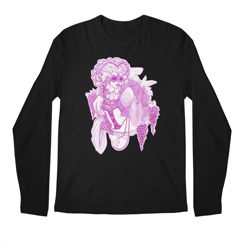 Violet Masked Blossom Men's Longsleeve T-Shirt by catiworks's Artist Shop