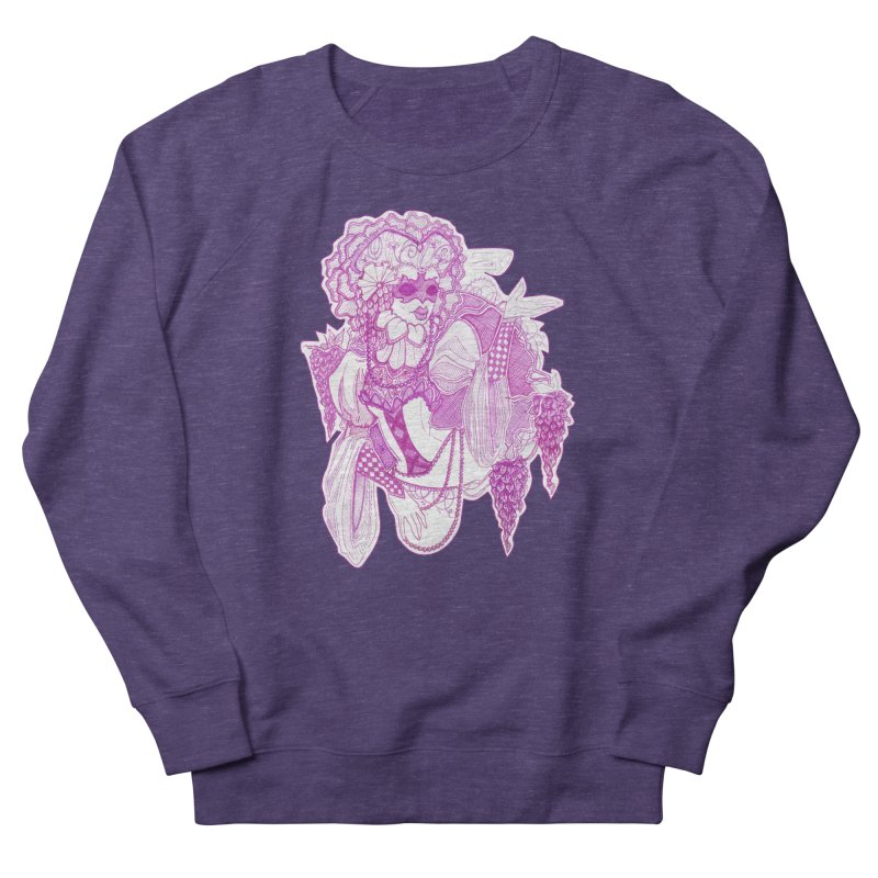 Violet Masked Blossom Women's Sweatshirt by catiworks's Artist Shop