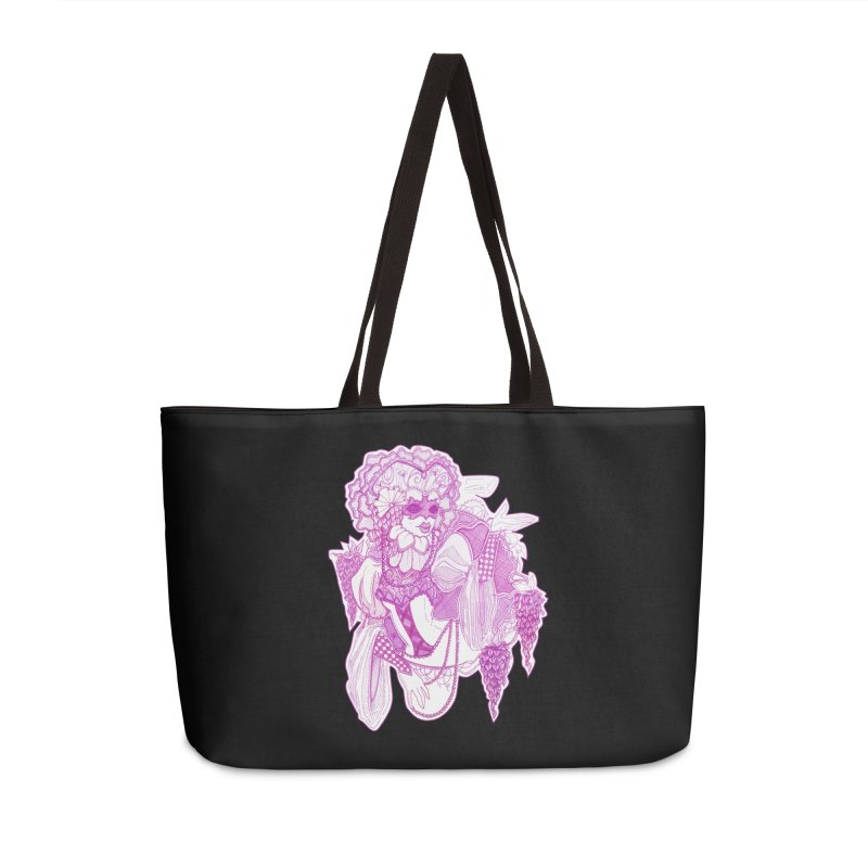 Violet Masked Blossom Accessories Bag by catiworks's Artist Shop