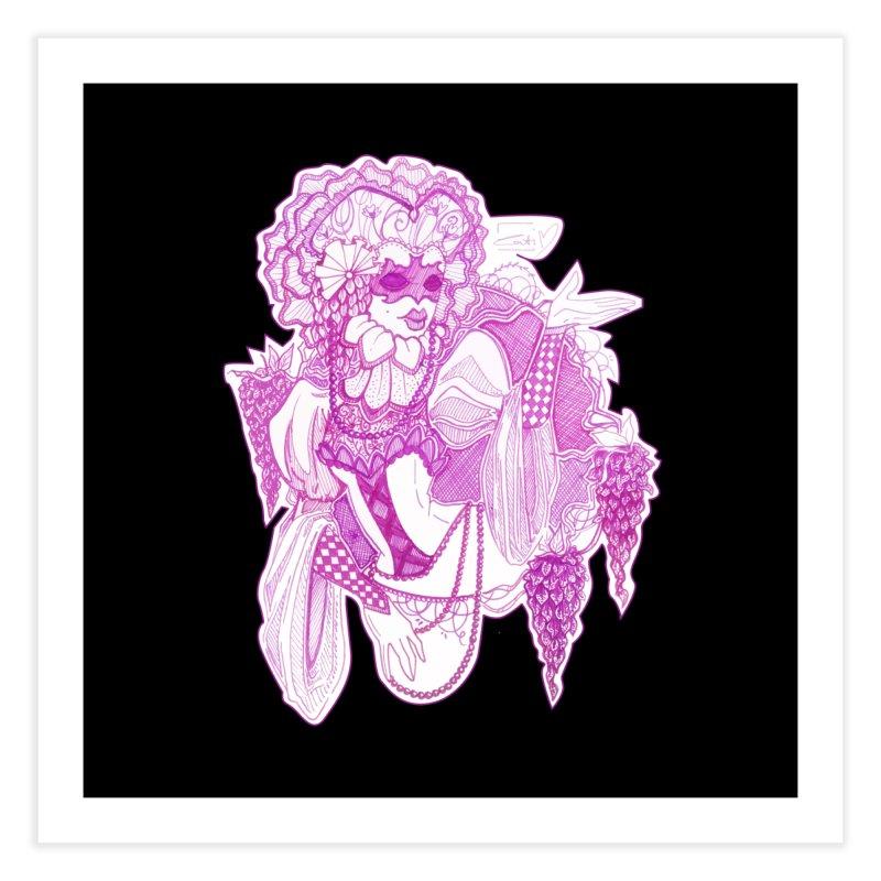Violet Masked Blossom Home Fine Art Print by catiworks's Artist Shop