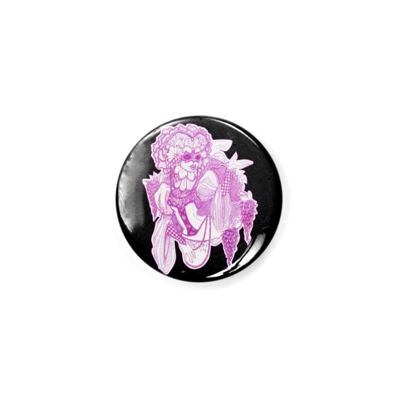 Violet Masked Blossom Accessories Button by catiworks's Artist Shop