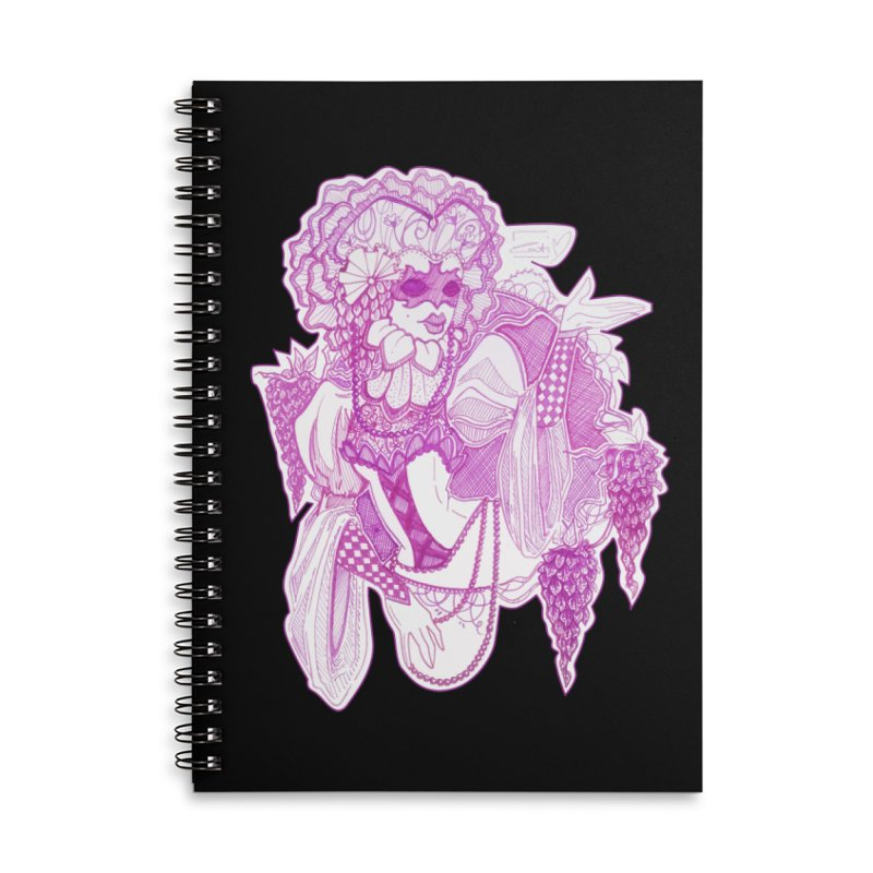 Violet Masked Blossom Accessories Notebook by catiworks's Artist Shop