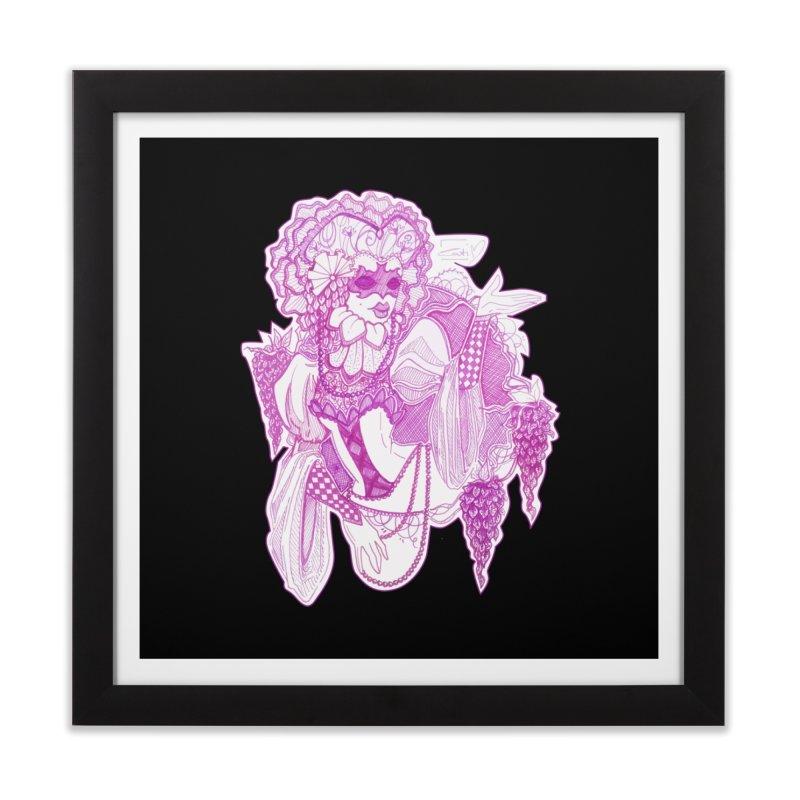 Violet Masked Blossom Home Framed Fine Art Print by catiworks's Artist Shop