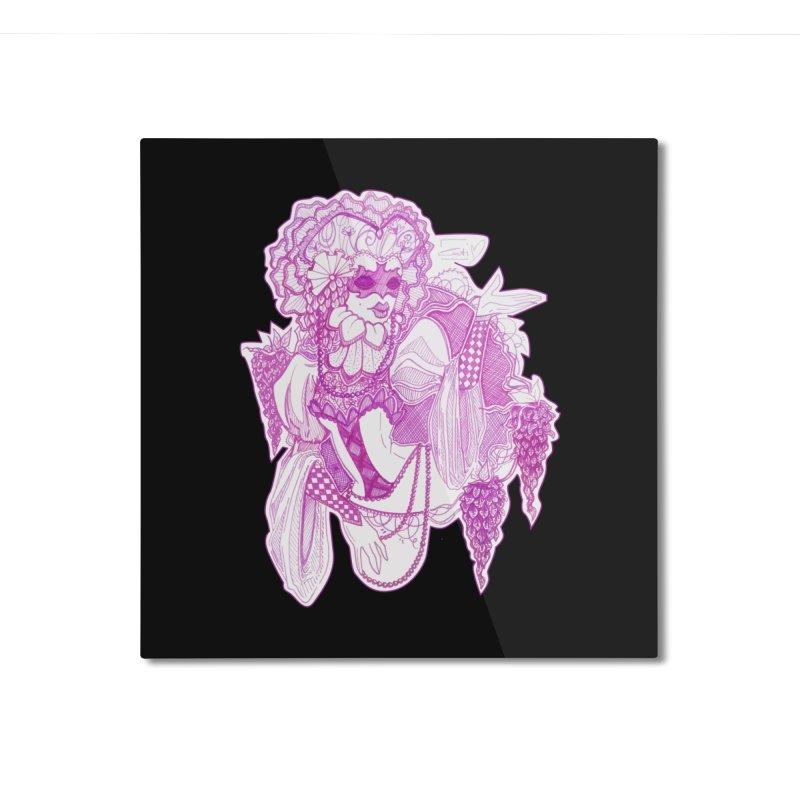 Violet Masked Blossom Home Mounted Aluminum Print by catiworks's Artist Shop