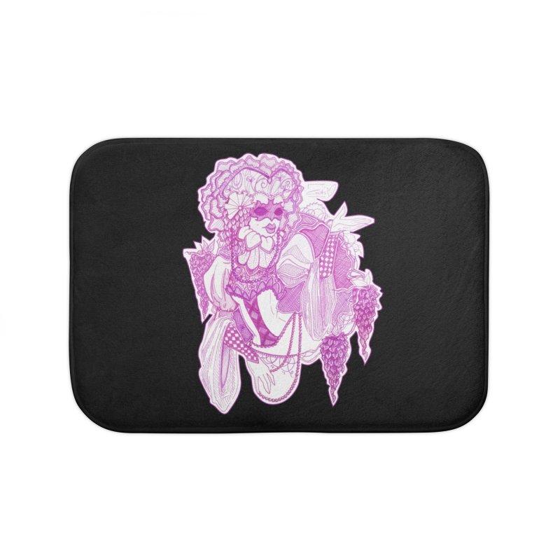 Violet Masked Blossom Home Bath Mat by catiworks's Artist Shop