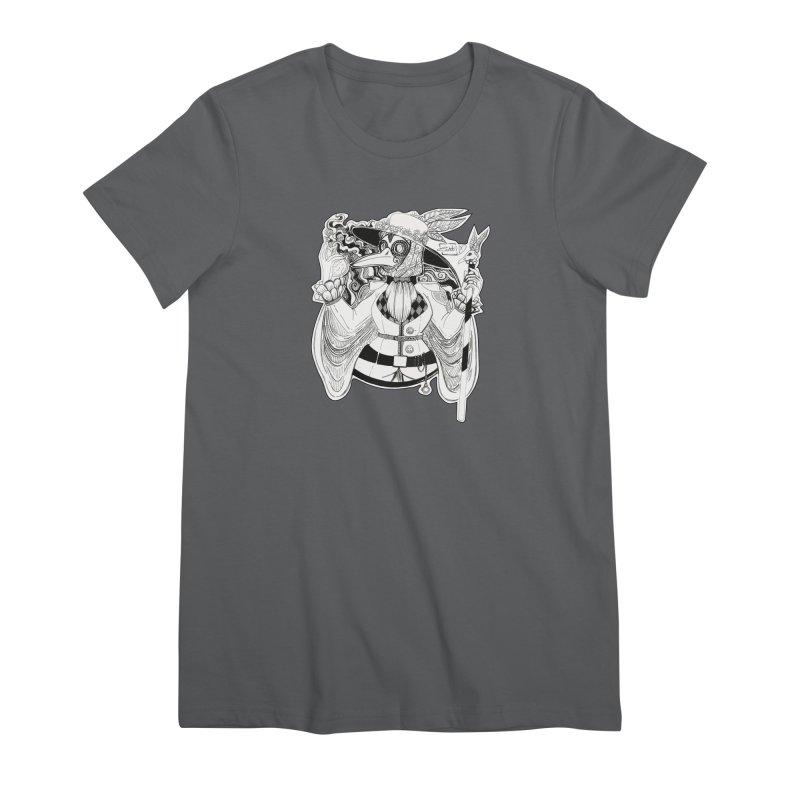 Masked Plague Doctor Women's T-Shirt by catiworks's Artist Shop