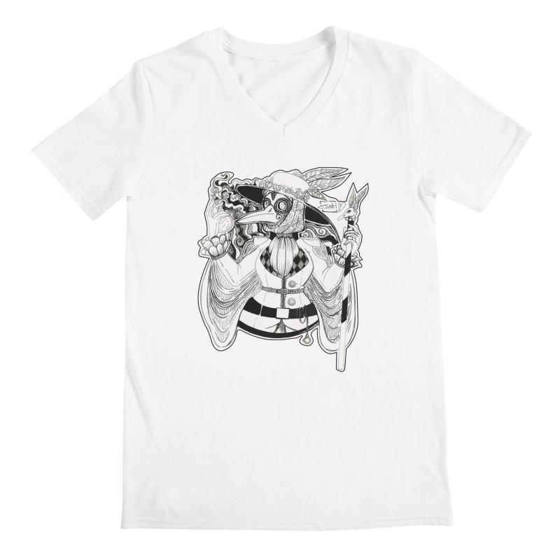 Masked Plague Doctor Men's V-Neck by catiworks's Artist Shop