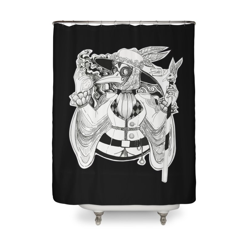 Masked Plague Doctor Home Shower Curtain by catiworks's Artist Shop