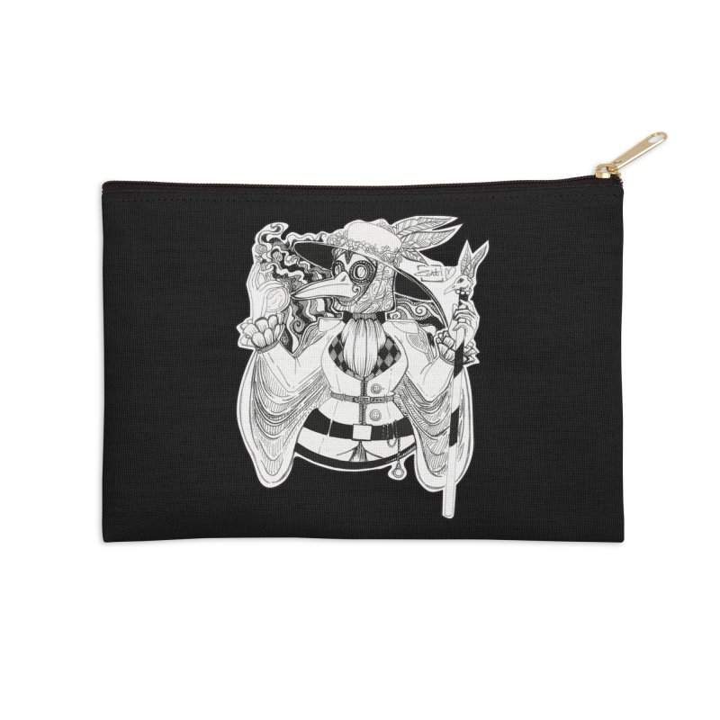 Masked Plague Doctor Accessories Zip Pouch by catiworks's Artist Shop