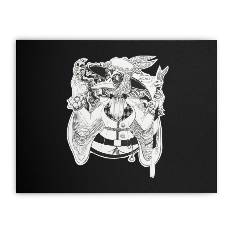 Masked Plague Doctor Home Stretched Canvas by catiworks's Artist Shop