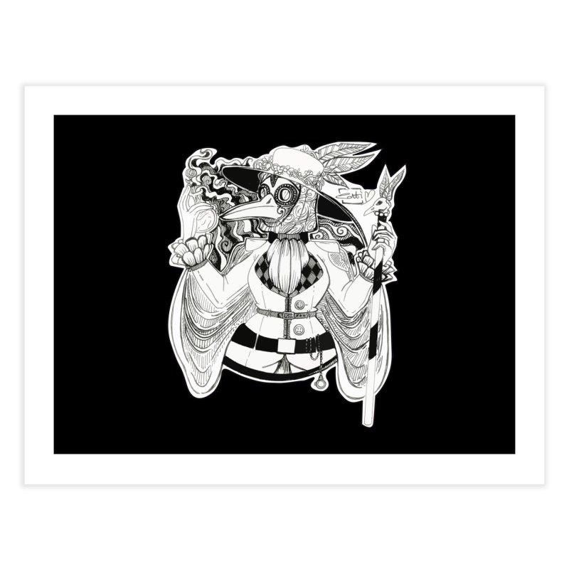 Masked Plague Doctor Home Fine Art Print by catiworks's Artist Shop