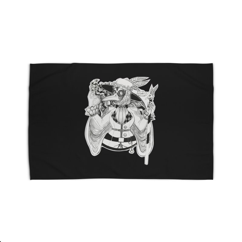 Masked Plague Doctor Home Rug by catiworks's Artist Shop